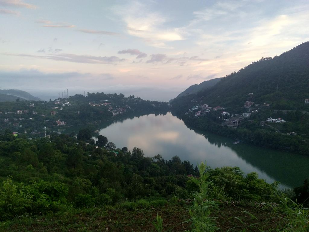 Bhimtal lake, top view